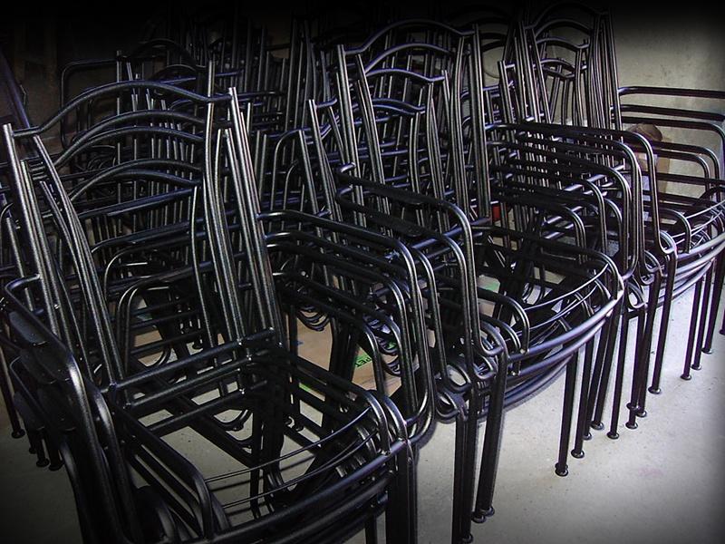 plastificirana stolica